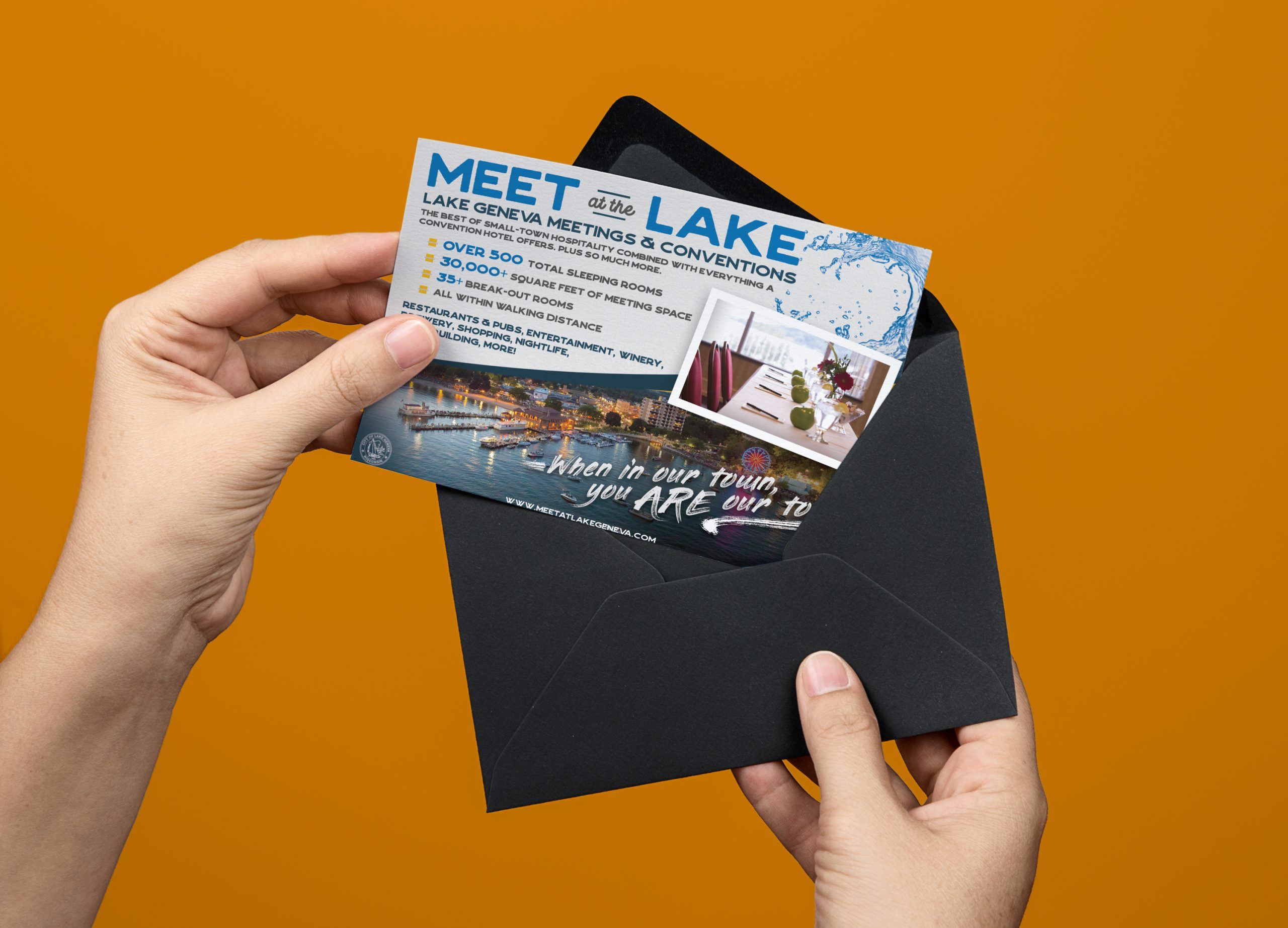 2018 Meet at the Lake Postcard Mockup