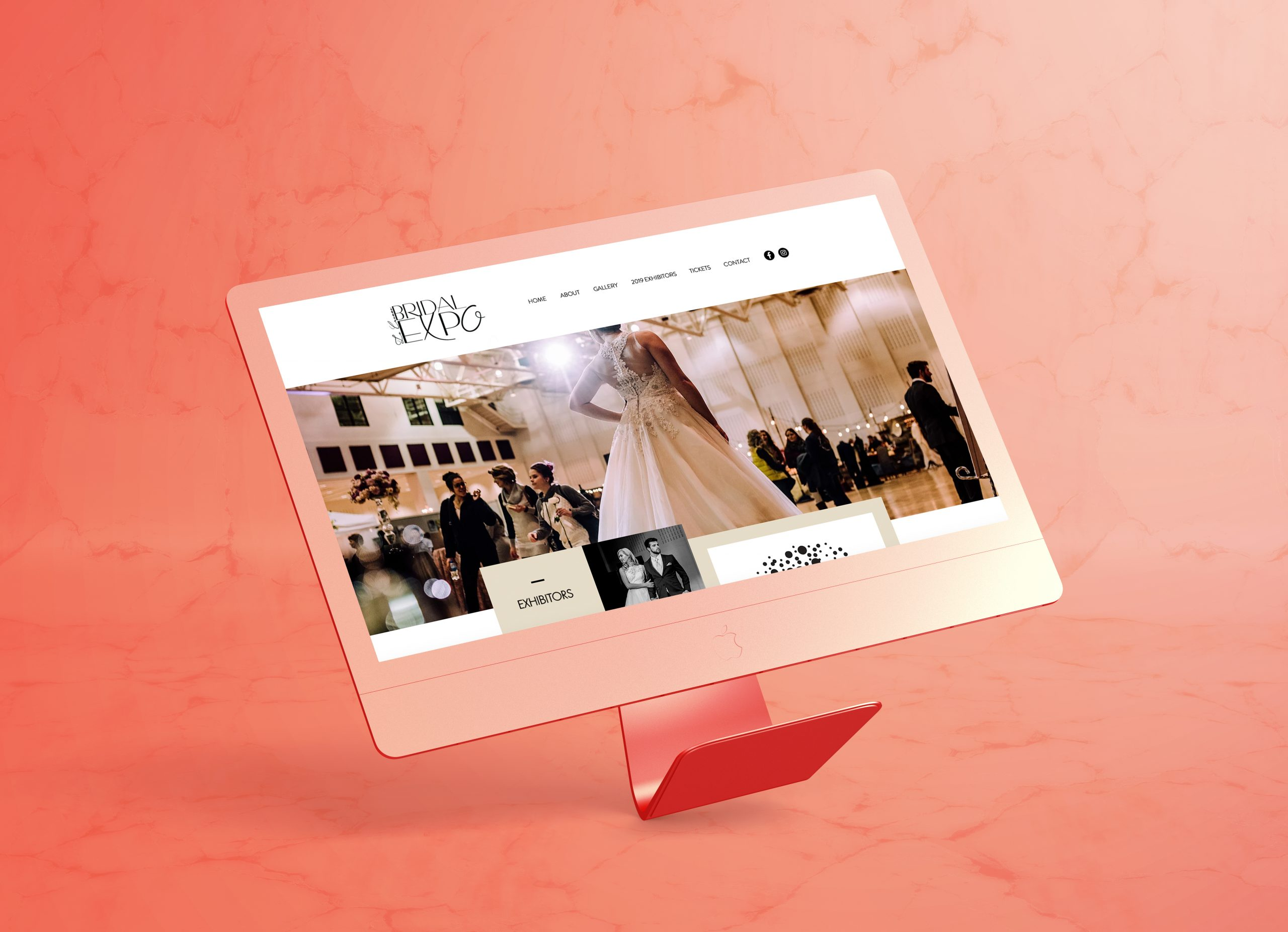 Bridal Expo Site Mockup