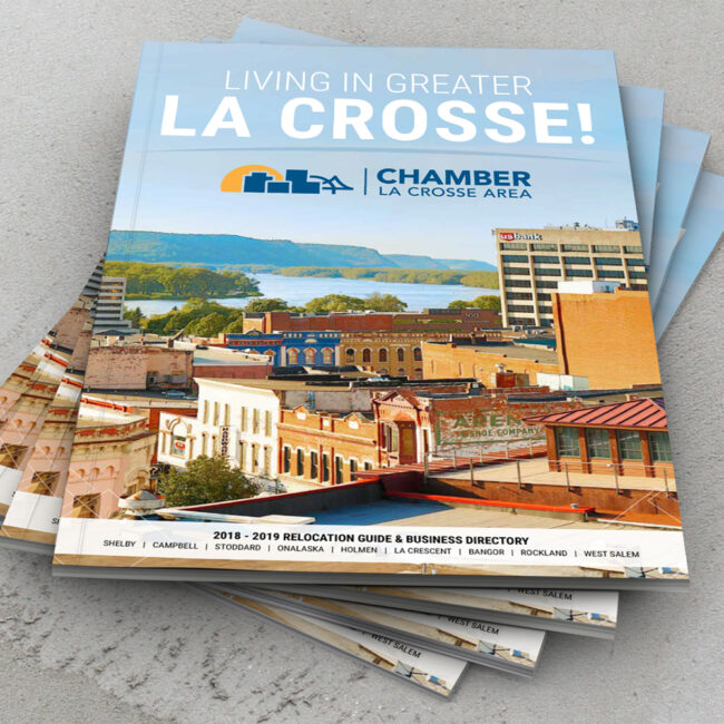 La Crosse Chamber 2018 - 2019 Relocation Guide and Business Directory Front Page