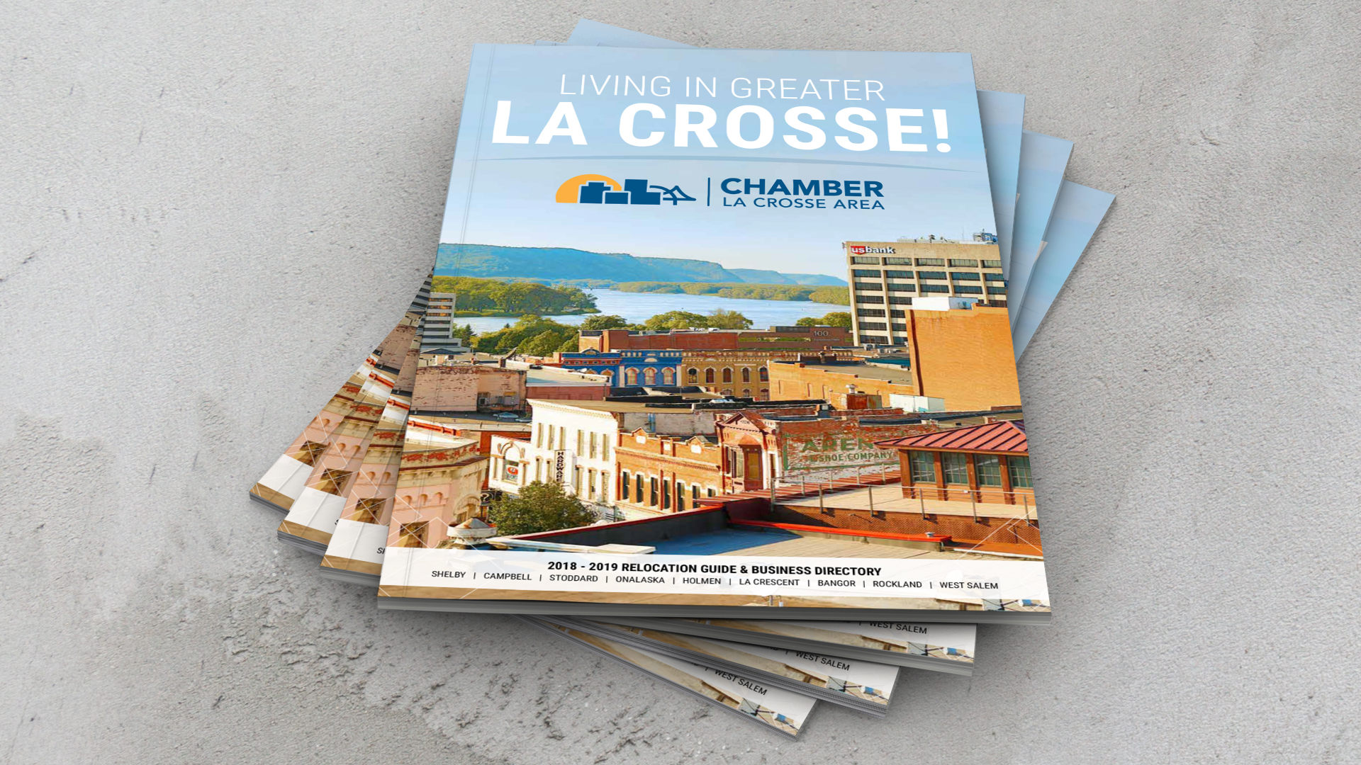 La Crosse Chamber 2018 - 2019 Relocation Guide and Business Directory Mockup