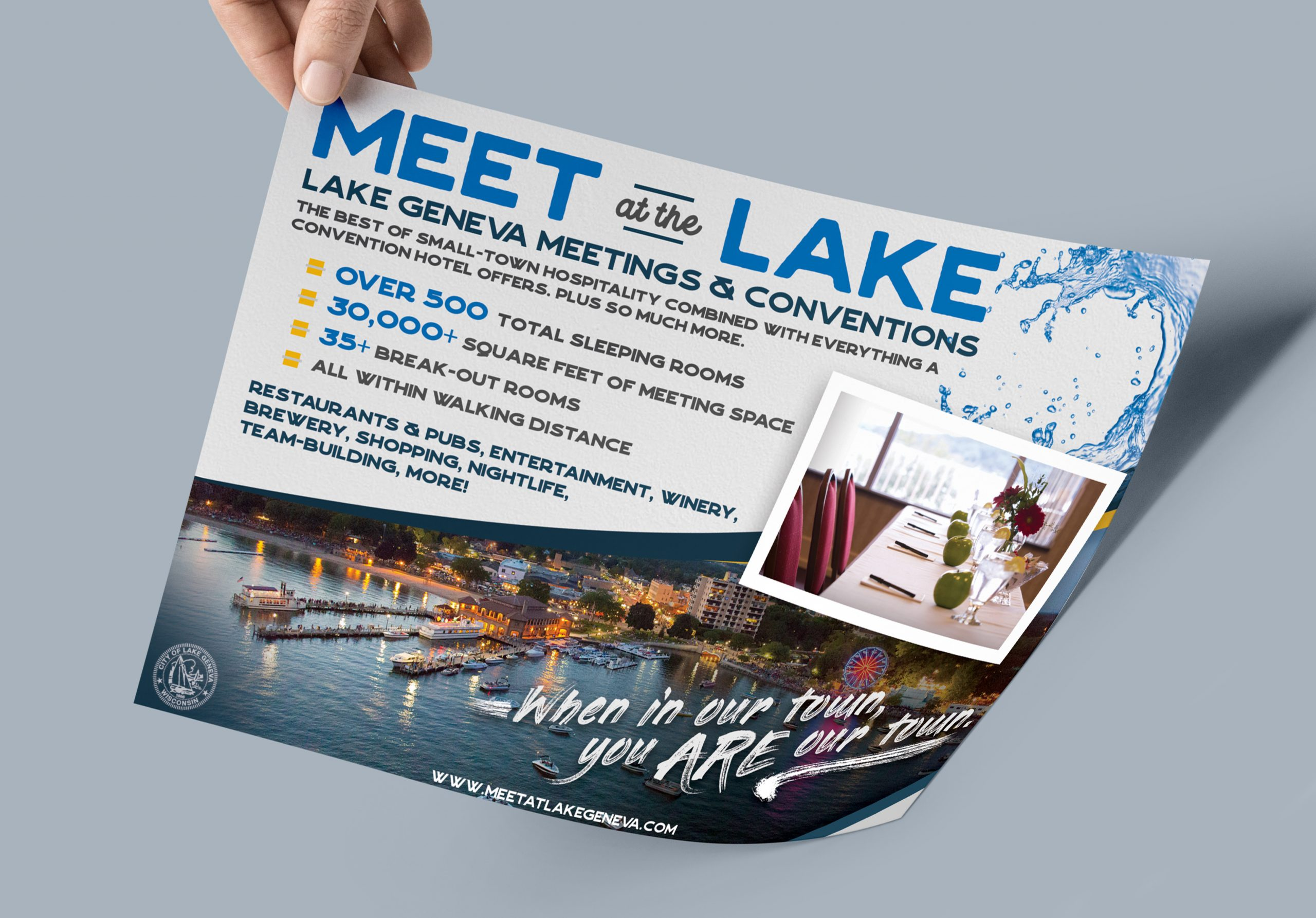 Meet at the Lake Ad Mockup