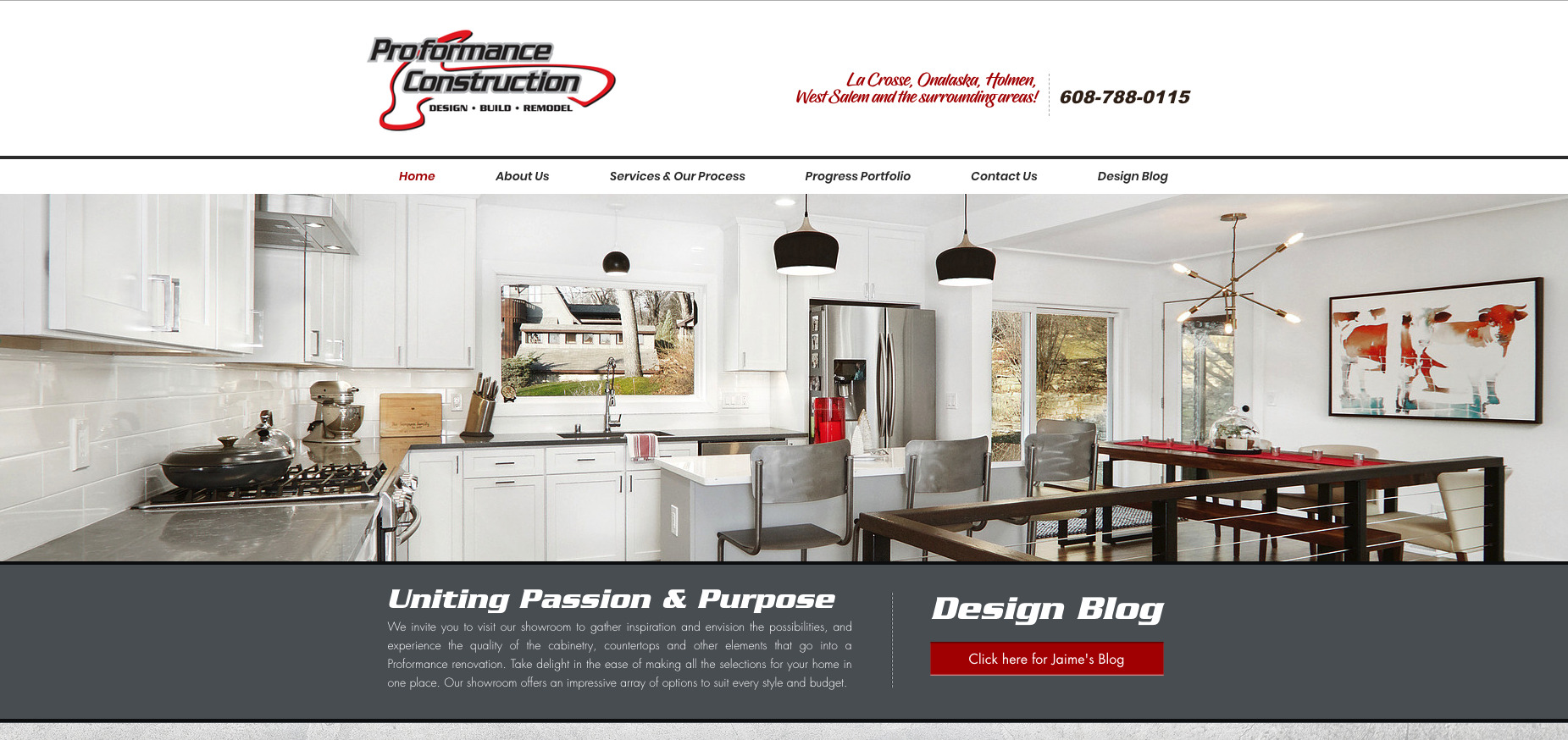 Proformance Construction Homepage